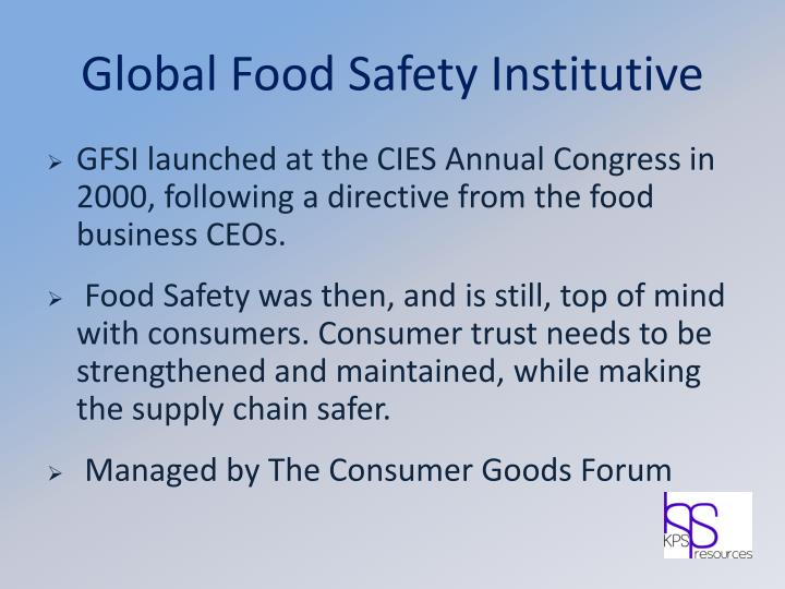Global Food Safety Institutive