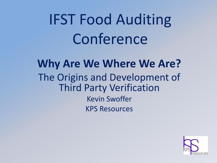 Ifst food auditing conference