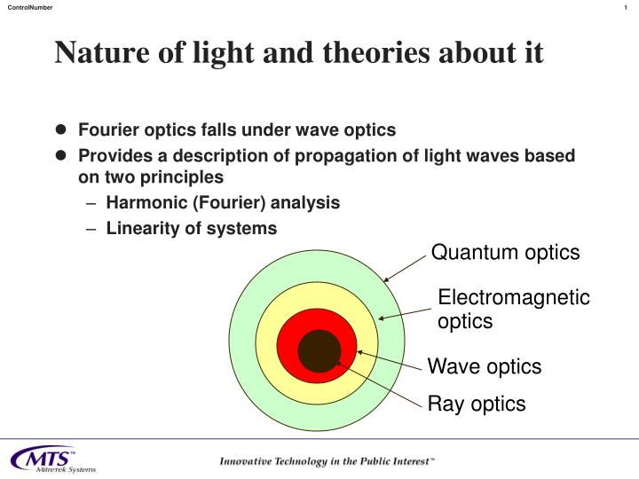 nature of light and theories about it n.