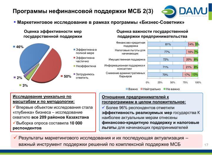 Программы нефинансовой поддержки МСБ 2(3)