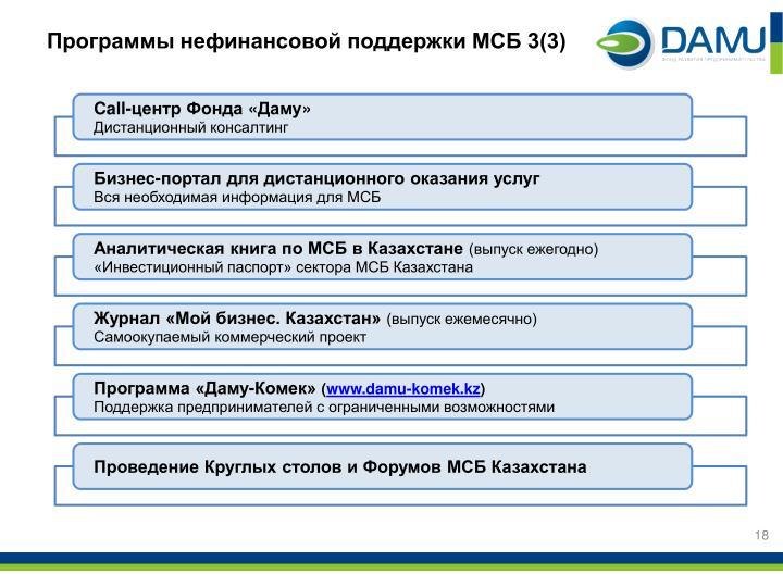 Программы нефинансовой поддержки МСБ 3(3)