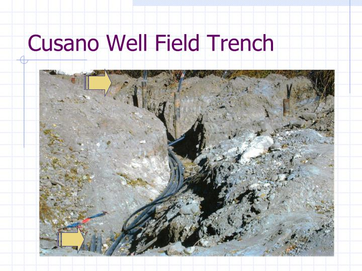 Cusano Well Field Trench