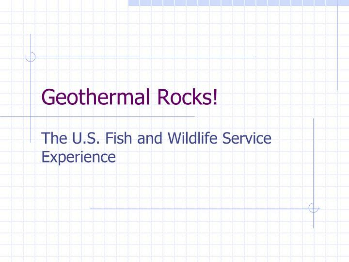 Geothermal rocks