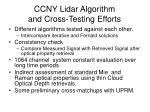 ccny lidar algorithm and cross testing efforts