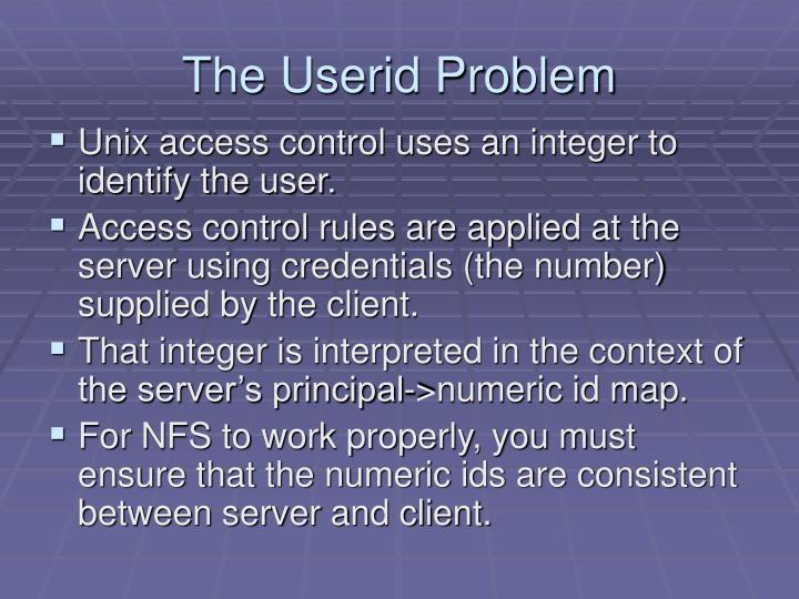 The Userid Problem