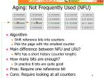 aging not frequently used nfu