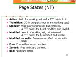 page states nt