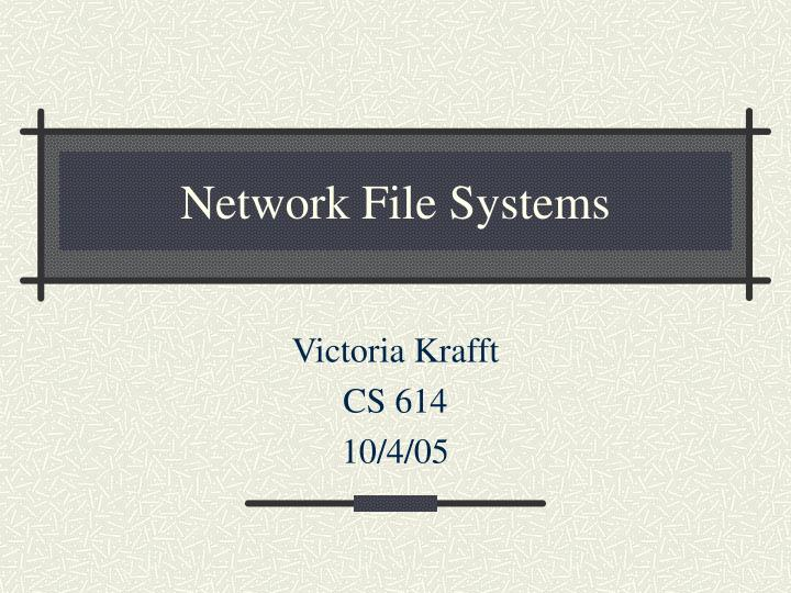 network file systems n.