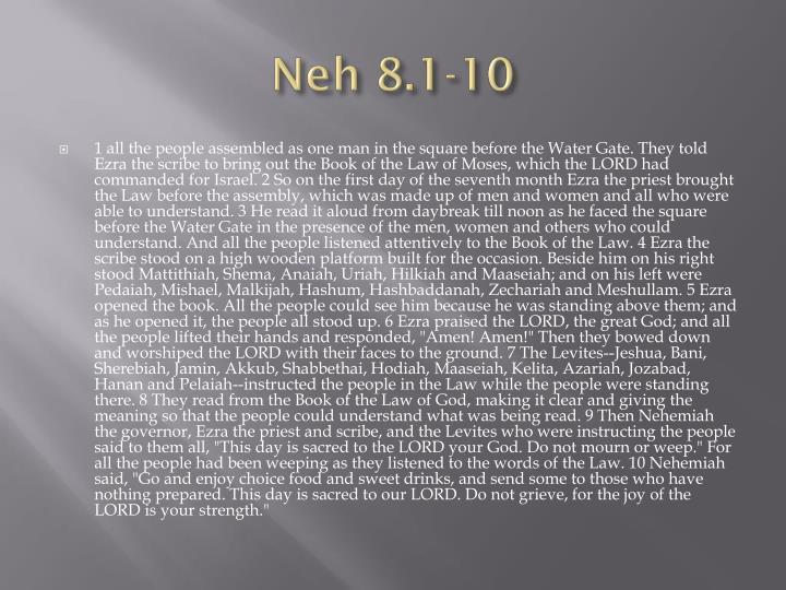 Neh 8 1 10