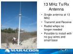 13 mhz tx rx antenna