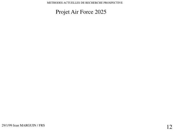 Projet Air Force 2025