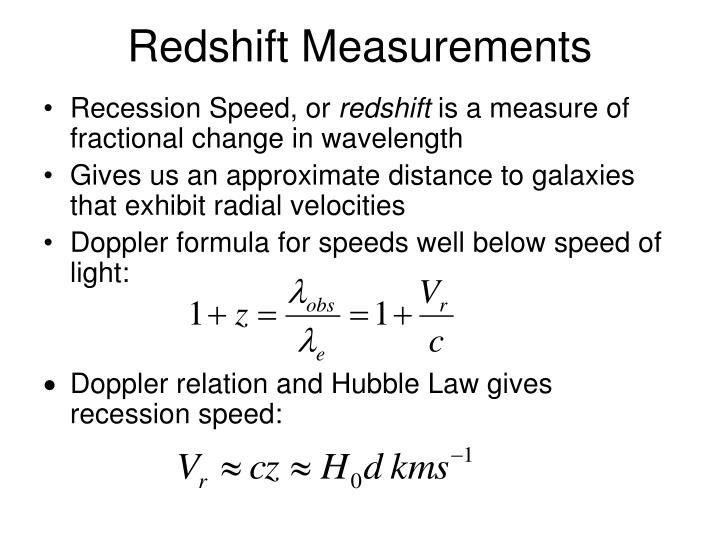 Redshift Measurements