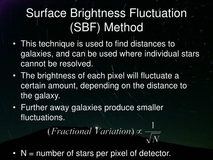 Surface Brightness Fluctuation (SBF) Method