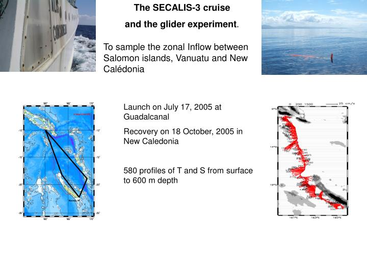 The SECALIS-3 cruise