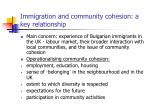 immigration and community cohesion a key relationship