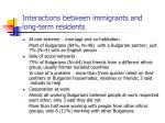 interactions between immigrants and long term residents
