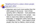 neighbourhood is a place where people help each other