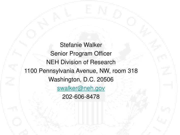 Stefanie Walker