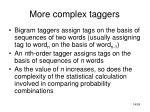 more complex taggers