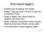 rule based taggers