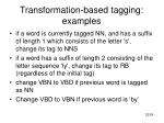 transformation based tagging examples