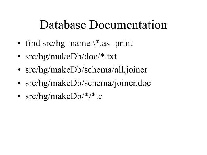 Database Documentation