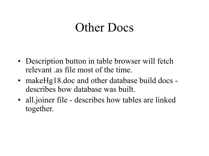 Other Docs