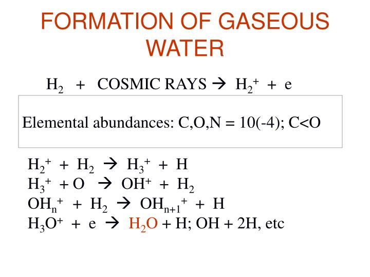 FORMATION OF GASEOUS WATER