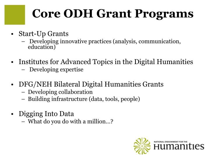 Core ODH Grant Programs