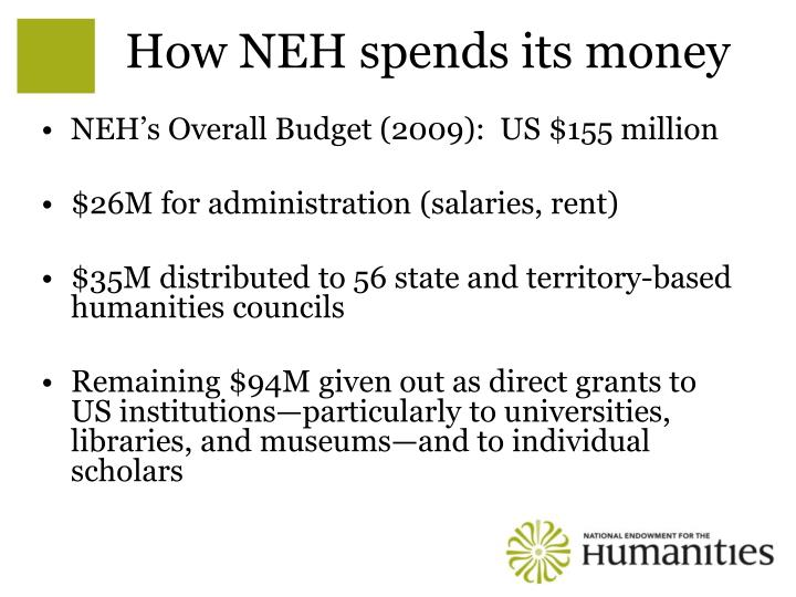 How NEH spends its money