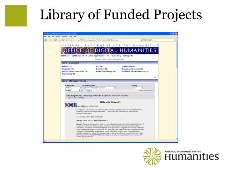 Library of Funded Projects