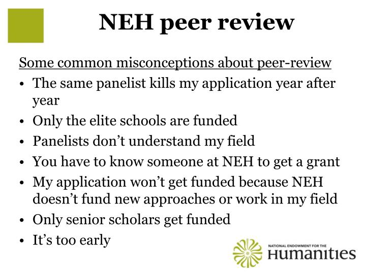 NEH peer review