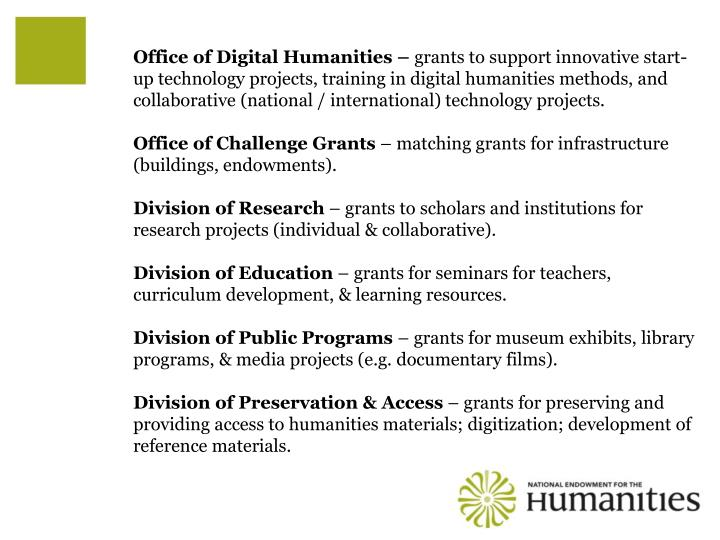 Office of Digital Humanities –