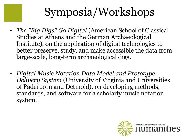 Symposia/Workshops