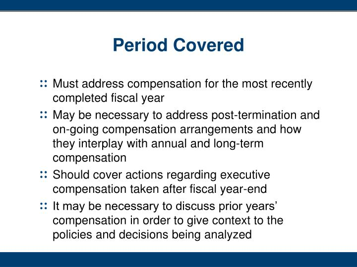 Period Covered
