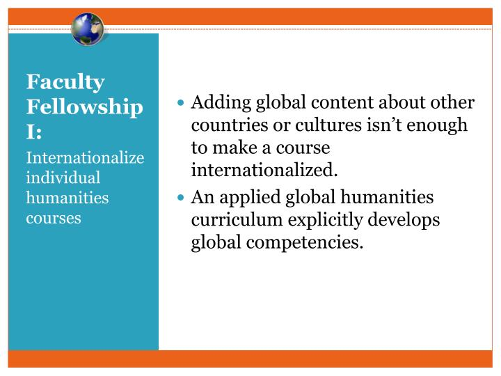Adding global content about other countries or cultures isn't enough to make a course internationalized.