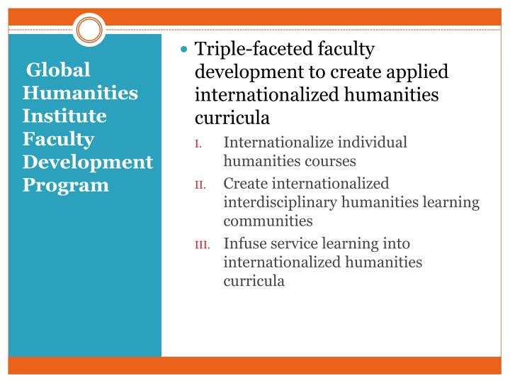 Triple-faceted faculty development to create applied internationalized humanities curricula