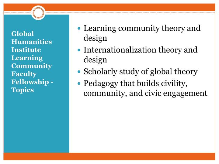 Learning community theory and design