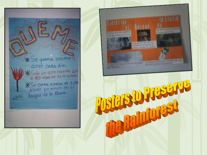 Posters to Preserve