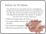 nathan as the beast