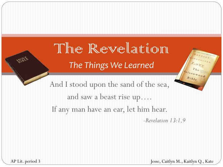 the revelation the things we learned n.