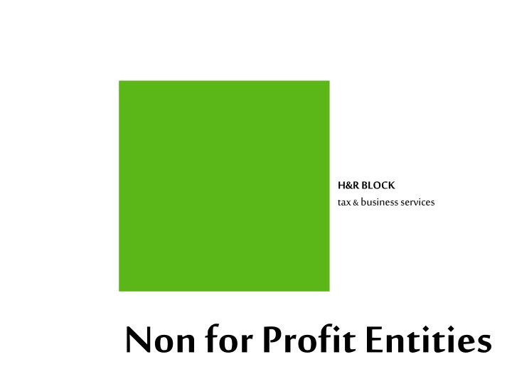 non for profit entities n.
