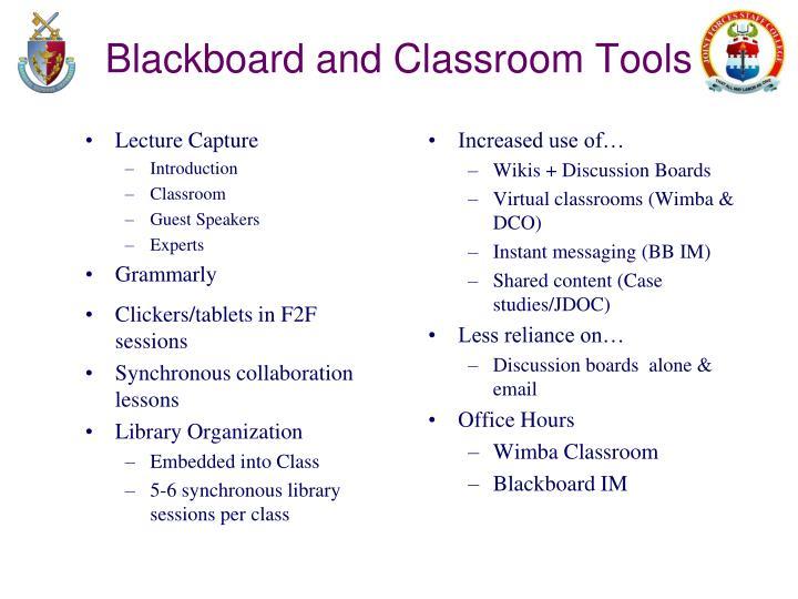 Blackboard and Classroom Tools