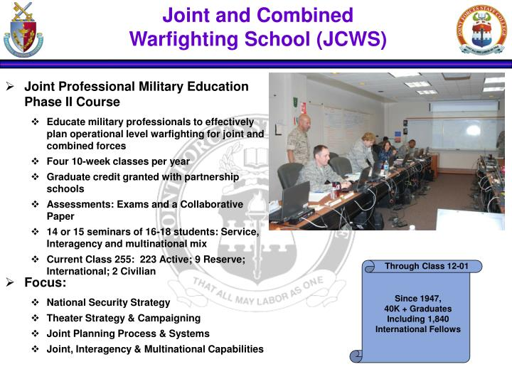 Joint and Combined        Warfighting School (JCWS)