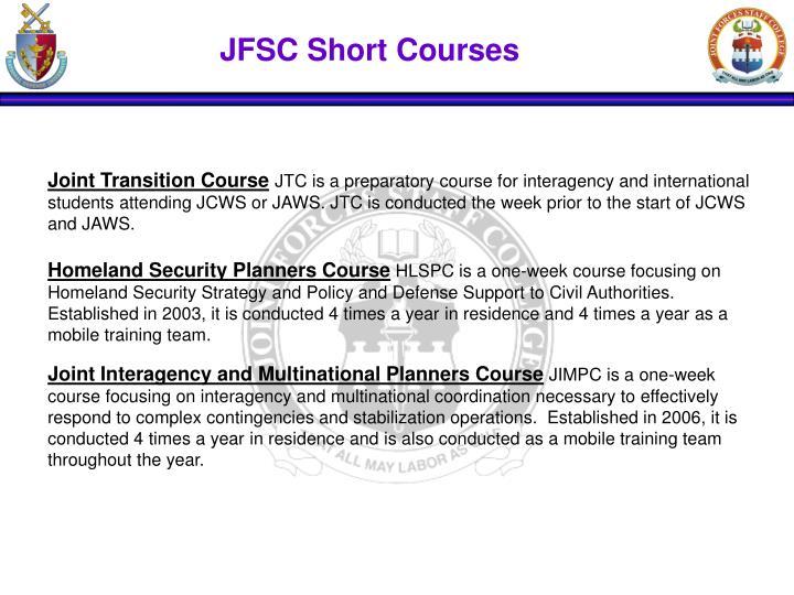 JFSC Short Courses
