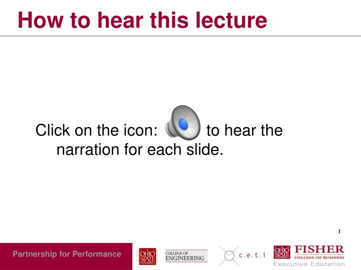 how to hear this lecture n.