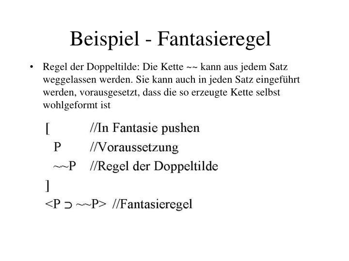 Beispiel - Fantasieregel