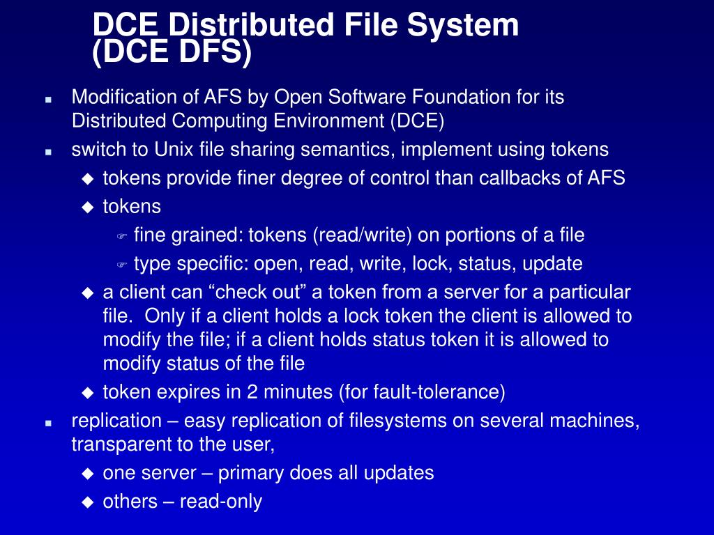 PPT - Distributed file systems...