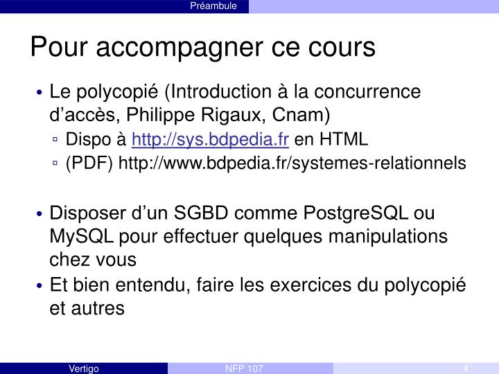 Pour accompagner ce cours