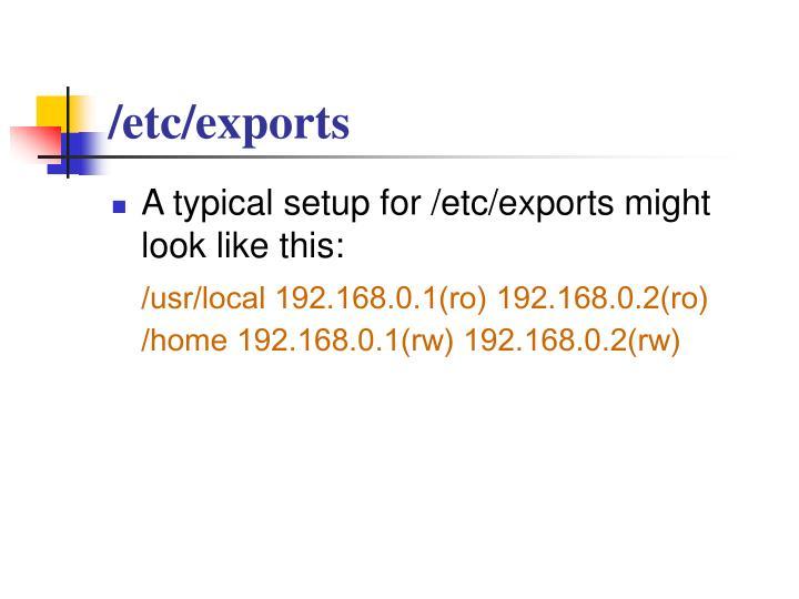 /etc/exports